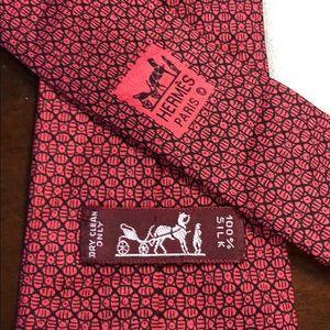 HERME'S 100% Silk Tie 7695 OA